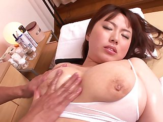 Curvy Rin Aoki'S Oily Massage Ends In A Deep Fingering