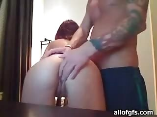 Dude Shows His Girlfriend's Tight Ass