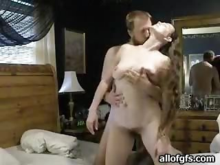 Sexy Brunette With Long Hair Gets Banged by her Hubby