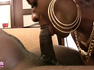 Kenya is a shemale who gets really horny when she sees a black cock