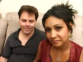 Indian Milf Gets Her As Beaten By A White Cock