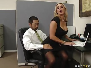 British Blonde MILF Tanya Tate Getting Fuck In The Office