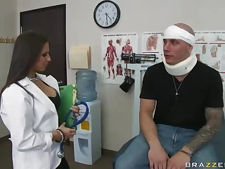 Smoking Hot Doctor Gives A Lucky Patient A Mean Blowjob