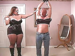 Big Beautiful Woman Wearing Lingerie Does Femdom