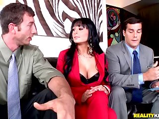 Alison Star With Two Cocks Entirely For Her