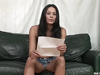 Beautiful Cassidey Rae reads something dirty to turn you on