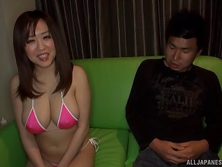 Chinese angel plays with her lover's fully erected cum gun