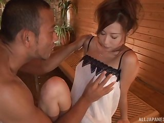 Hikari enjoys getting oiled up and fucked hard by a lucky guy