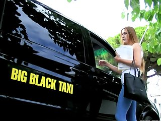 Alexis Loves to Fuck and the Big Black Cab Driver Is Her next One