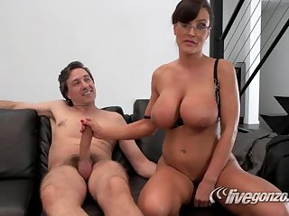 Sexy Lisa Ann and Steve Holmes  blowjob and fucking