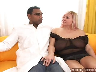 Big Blonde Beauty And The Big Black Beast Fuck Together