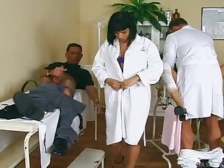A Hot Foursome With A Sexy Nurse And A Gynecologist