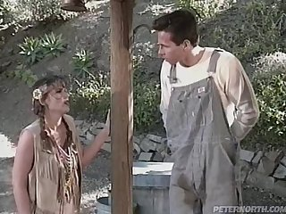 Native American hottie Kristy gets fucked by a farmer